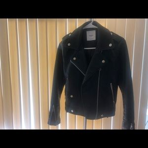 Appliqué biker jacket by Mango